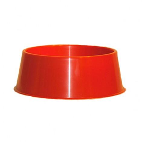 Comedero de Plástico Rojo para perros Talla S