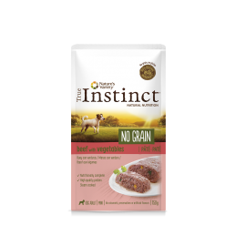 Pouch True Instinct No Grain perros mini Buey y Verduras