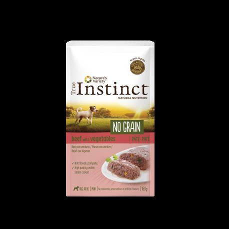 Pouch True Instinct No Grain perros mini Buey y Verduras