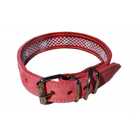 Collar de Piel Nobuk Rosa 35 cm.