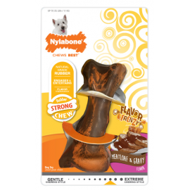 Nylabone Hueso Masticable Flavor Frenzy Beef & Gravy