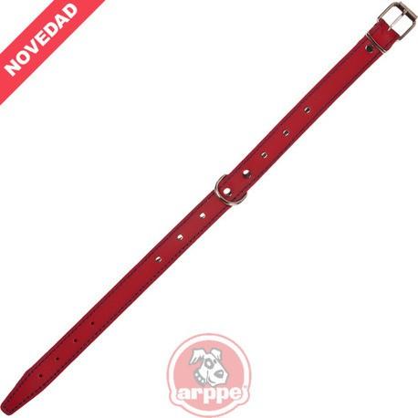 Collar Cuero Forrado Amazone 3D Fornitura Rojo