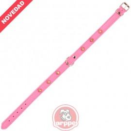 Collar Cuero Forrado Amazone 3D Fornitura Rosa