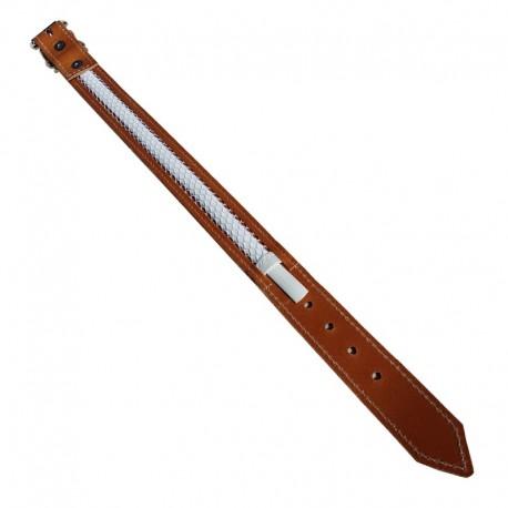 Collar de cuero Tuynec natural 57 cm.