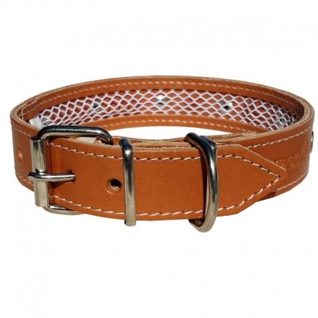 Collar de cuero Tuynec natural 65 cm.