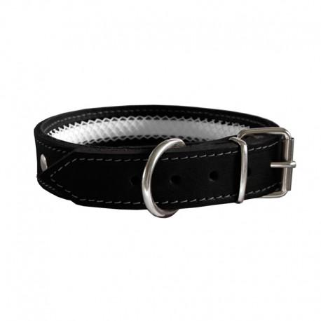 Collar de cuero Tuynec negro 50 cm.