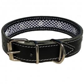 Tuynec collar de Cuero Negro 42 cm.
