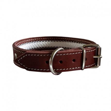 Collar de cuero Tuynec marrón 57 cm.