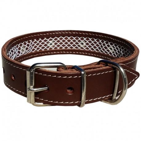 Collar de cuero Tuynec marrón 75 cm.
