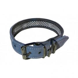 Collar de Piel Nobuk Gris 75 cm.