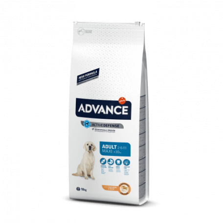 Advance Maxi Adult pollo y arroz 14 kg.