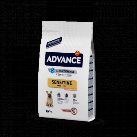 Advance Mini Sensitive Salmón y Arroz 1,5 kg.