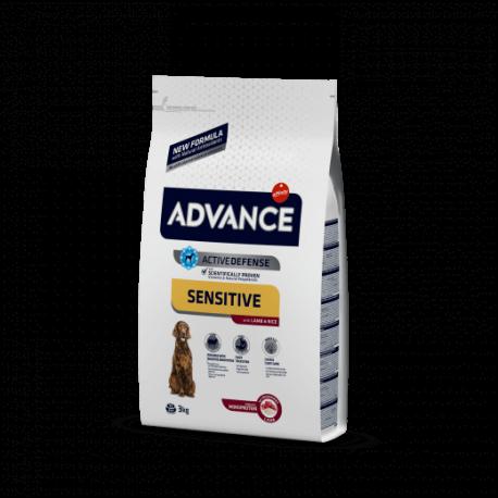 Advance Sensitive Medium-Maxi Cordero y Arroz 3/12 kg.