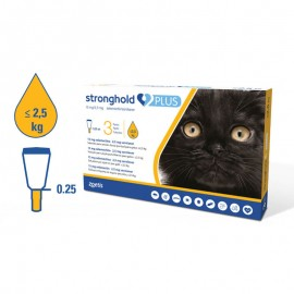 Stronghold Plus 15 mg. 3 pipetas para gatitos