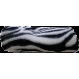 Manta polar suave estampado negro para perros 100x70 cm.