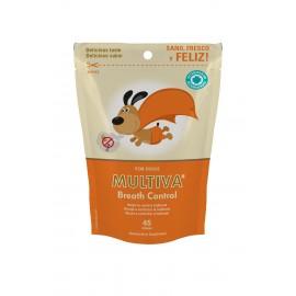 Multiva Breath Control suplemento contra la halitosis para perros 45 premios