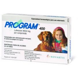 Program 400 tratamiento antipulgas externo para perros de 20 a 80 kg.