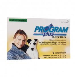 Program Plus 11,5 mg. prevención de pulgas y dirofilariosis para perros de 12 a 22 kg.
