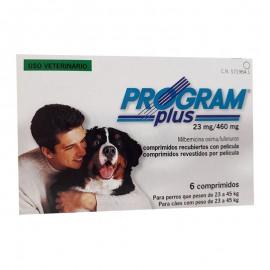 Program Plus 23 mg. prevención de pulgas y dirofilariosis para perros de 22 a 50 kg.