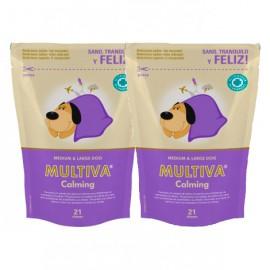Pack de 2 Multiva Calming tranquilizante para perros medianos y grandes 2ud. al 50%
