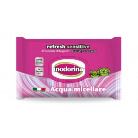 Toallitas Inodorina Refresh Sensitive Agua Micelar 40 ud.