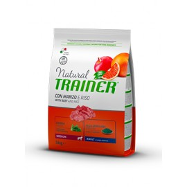 Natural Trainer Medium Adult Ternera y Arroz 3/12 kg.