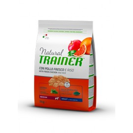 Natural Trainer Medium Adult Pollo y Arroz 3/12 kg.