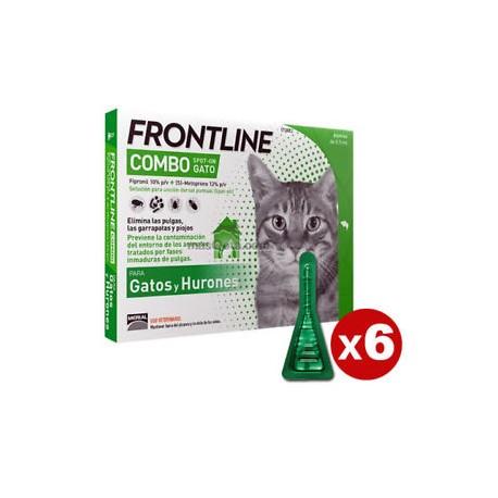 Frontline Spot-On Combo 3 pipetas para gatos y hurones