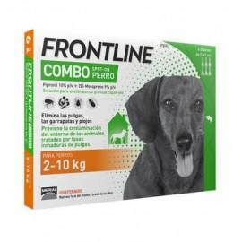 Frontline Combo para perros 2-10 kg. (3/6 pipetas)