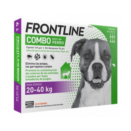 Frontline spot-on combo pipetas para perros 20-40 kg.