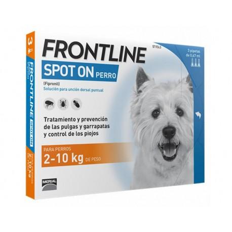 Frontline spot-on 2-10 kg. 3 pipetas