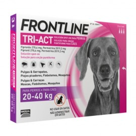 Frontline Tri-Act 20-40 kg. 3/6 pipetas