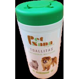 Toallitas limpiadoras Petsana para mascotas con aloe vera 60 ud.