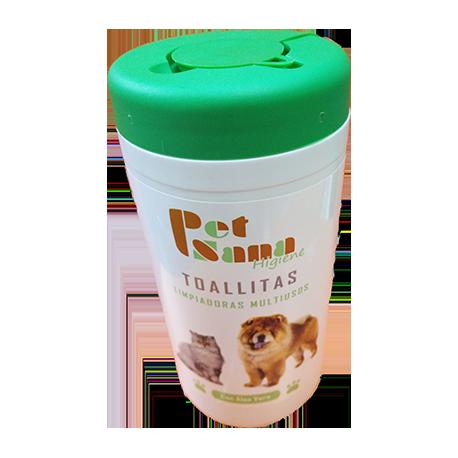 Toallitas limpiadoras Petsana para perros y gatos 60 ud.