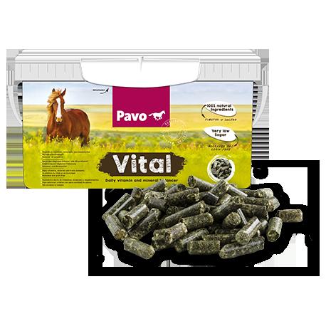 Pavo Vitalsuplemento vitamínico para caballos 8 kg.
