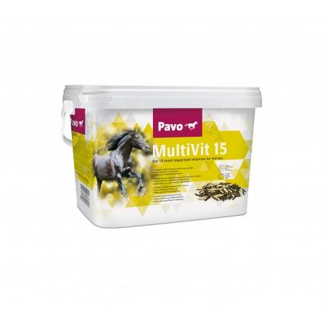 Pavo Multivit 15 complemento multivitamínico para caballos 3 kg.