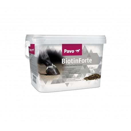 Pavo Biotinforte complemento alimentario para el cuidado de los cascos de los caballos 3 kg.