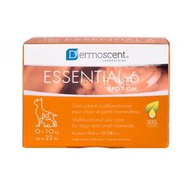 Dermoscent Essential 6 para el cuidado de la piel de perros y gatos 1-10 kg. (4 pipetas)