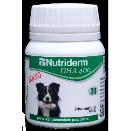 Nutriderm 400 DHA suplemento alimentario para perros 30 cápsulas