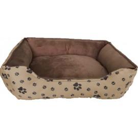 Cuna beig marrón para perros pequeños y gatos