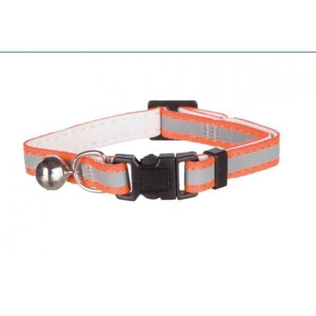 Collar elástico con cierre de seguridad reflectante