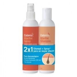 Cutania GlycOat pack (champú+spray) cuidado piel perros, gatos y caballos 236 ml.