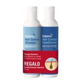 Cutania Haircontrol pack (champú+acondicionador) cuidado piel perros, gatos y caballos