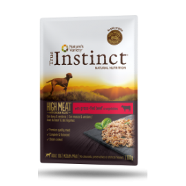 Pouch True Instinct High meat perros medium/maxi Buey y Verduras 300 gr.