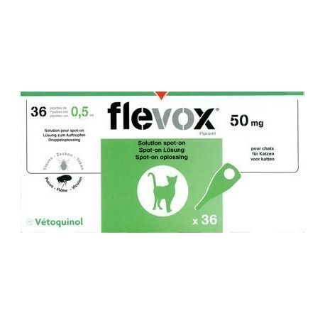 Pipetas Flevox gatos (unidad/caja/monodosis)