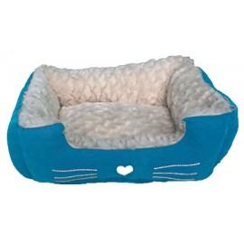 Cuna escocesa azul para perros