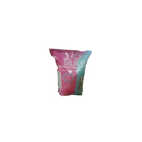 Arena de sílice para gatos rosa 3,8 l.