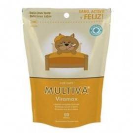 Multiva Viramax suplemento contra el herpesvirus felino 60 premios