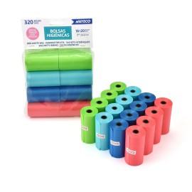 Bolsas recoge cacas perfumadas de colores 320 bolsas