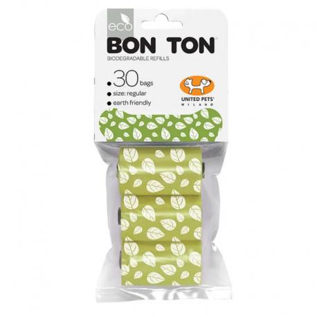 Bolsas biodegradables verdes recambio Bon-Ton 30 ud.